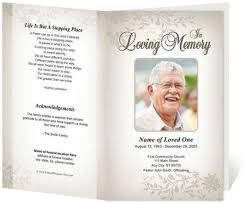 Funeral Programs Samples Funeral Templates Free Dove Printable Funeral Card For Microsoft