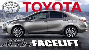 toyota global 2017 toyota corolla altis facelift makes global debut youtube