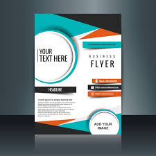 business flyer template with geometric shapes free vectors ui