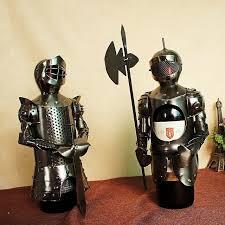 metal crafts warrior creative wine rack home bar ornaments