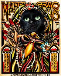 vintage mardi gras tag vintage mardi gras cat wisdom 101