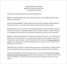 madeline hunter lesson plan template u2013 6 free sample example