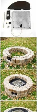 Diy Gas Firepit Build A Outdoor Gas Firepit Document On Building His