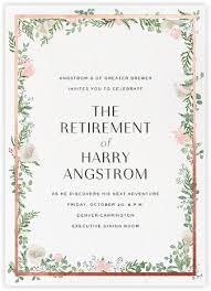 retirement invitations retirement invitations farewell invitations online at paperless