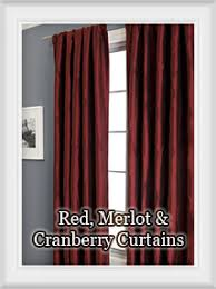 Chocolate Brown And Red Curtains Curtains By Color Bestwindowtreatments Com