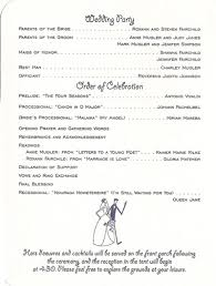 Wedding Program Sample Template Weddings Ceremony Free Wedding Program Templates