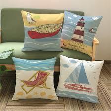 taie d oreiller pour canapé coussin couverture série phare bateau taie d oreiller
