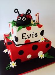 Ladybug Themed Baby Shower Cakes - ladybug baby shower cake two tiered fondant cake w gumpate
