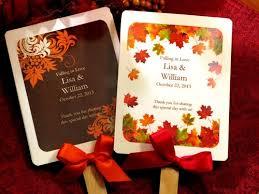 fall themed baby shower favors autumn fall wedding favor fans