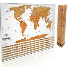Large World Map Poster The Best Scratch Off World Map With 210 Flags And Gift Packaging