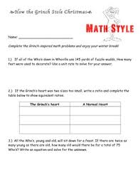 the grinch math style by mia cotter teachers pay teachers