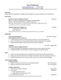 resume for college freshmen templates resume for a college freshman sle format template word with