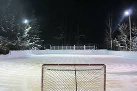 rink of dreams michigan family built an amazing outdoor hockey