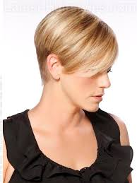 short haircut with ear showing of short hairstyles with bangs