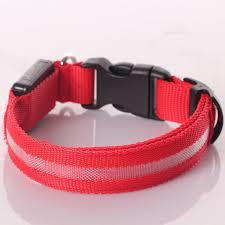 led ribbon pet collar safety glow
