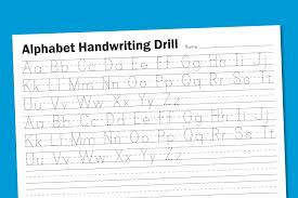 alphabet handwriting drill paging supermom