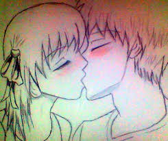 kissing anime couple by lilxcherrypop on deviantart