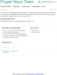 proper noun town lesson plan education com