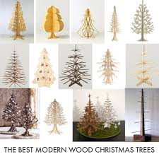 flat pack felt plywood christmas tree inspiration holidays