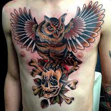 30 best tree and owl chest piece tattoos images on pinterest