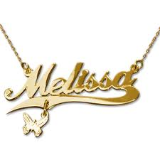 name charm necklace 14k name necklace gold with charm mynamenecklace