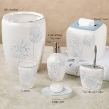 Blue And White Bathroom Accessories by Bathroom Accessory Sets Touch Of Class