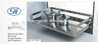 Kitchen Cabinet Pull Out Baskets Sw 600wl 3 Sides Stainless Steel Drawer Basket Kitchen Cabinet