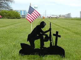 Flag Stakes Praying Soldier Yard Stake With The American Flag Lizzie Mae