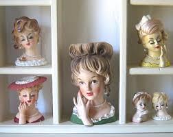 Napco Lady Head Vase Napco Head Vase Etsy