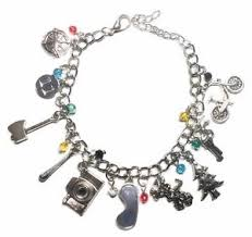 themed charm bracelet things tv series 10 themed charms charm bracelet ebay