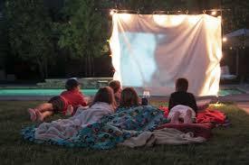 Backyard Movie Party by Outdoor Movie Night Bettycrocker Com