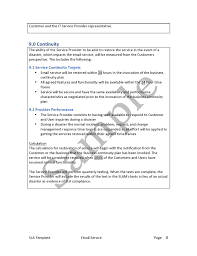 service level agreement template u2014 edge it training and consulting inc