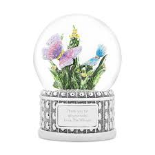 butterfly musical snow globe