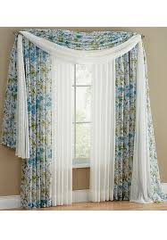 brylane home constance print voile window separates plus size