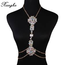 multi crystal necklace images New sexy multi crystal ab body chains women bikini body jewelry jpg
