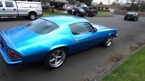 light blue camaro 1974 camaro electric blue