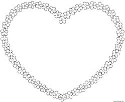coloriage coeur dessin à imprimer gratuit