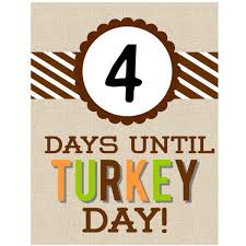 grateful gobbler on only 4 days until thanksgiving and the