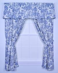 Blue Toile Curtains Park Toile 68 Inch By 84 Inch Tailored Panel