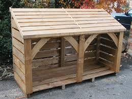 6ft long 4 ft high log store delivered fully constructed 330