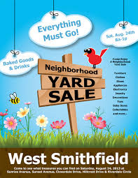 yard sale flyer template word 14 best yard sale flyer templates