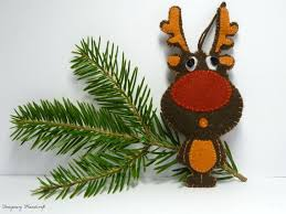 Felt Christmas Decorations Reindeer by 182 Best Felt Reindeer Moose Images On Pinterest Christmas