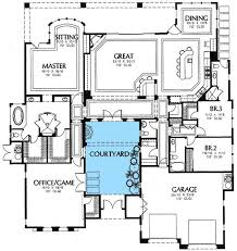 modern home blueprints plan 16359md central courtyard courtyard house plans courtyard