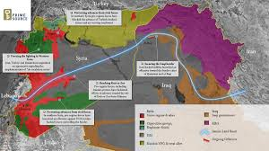 Map Of Russia And Syria by Map Of Iran U0027s Land Road Through Its Shia Jihadi Proxies In Iraq