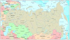 russia map with all cities russia map blank political russia map with cities