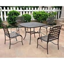 Iron Patio Table And Chairs Iron Patio Table Rod Iron Outdoor Furniture Fantastic Cast Iron