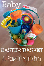 easter gift baskets for toddlers easter basket for baby to promote motor development pink oatmeal