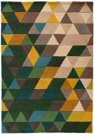 modern rugs flair illusion prism green multi wool rugs 74