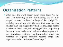 what does pattern mean patterns of organization