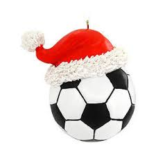 soccer with santa hat ornament gift ideas